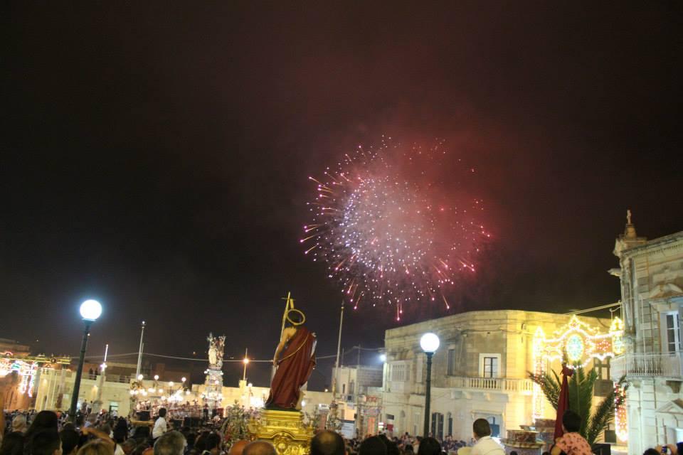 Festa di San Giovanni, Ragusa. Fuochi d'artificio