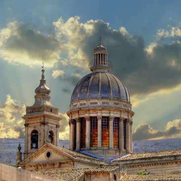 cupola_comiso_basilica_santa_maria_annunziata_visit_vigata_commissario_montalbano